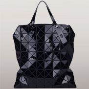 Monica Faux Leather Tote Black