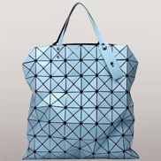 Monica Faux Leather Tote Blue