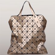Monica Faux Leather Tote Bronze