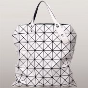 Monica Faux Leather Tote White