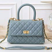 Nicola Top Handle And Shoulder Lambskin Mini Bag Blue
