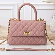 Nicola Top Handle And Shoulder Lambskin Mini Bag Pink