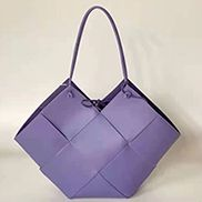 Mia Medium Leather Tote Bag Purple