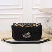 Paulette Medium Flap Bag Leather Black