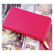 DAKOTA PURSE WALLET CROC EFFECT LEATHER PINK