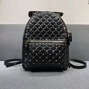 Rockstar Leather Backpack Black