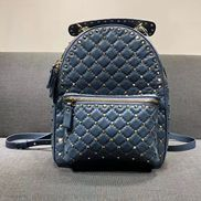 Rockstar Leather Backpack Blue