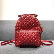 Rockstar Leather Backpack Red
