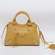 The Route 66 Faux Leather Medium Tote Yellow