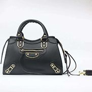 The Route 66 Faux Leather Medium Tote Black