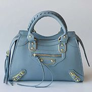 The Route 66 Faux Leather Medium Tote Blue