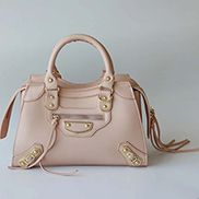 The Route 66 Faux Leather Medium Tote Pink