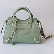 The Route 66 Faux Leather Medium Tote Green