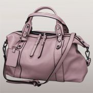 Roxana Leather Shoulder Bag Pink