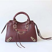 The Route 66 Faux Leather Medium Tote Burgundy
