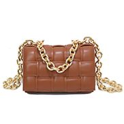 Mia Leather Chain Medium Shoulder Bag Camel