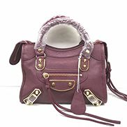 The Route 66 Goatskin Leather Small Bag Burgundy Gold Hardware