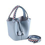 Theresa Palmprint Leather Bag Blue