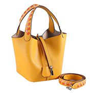 Theresa Palmprint Leather Bag Yellow