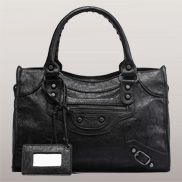 The Route 66 Faux Leather Medium Bag Black