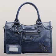 The Route 66 Faux Leather Medium Bag Blue