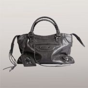 The Route 66 Faux Leather Medium Bag Dark Grey