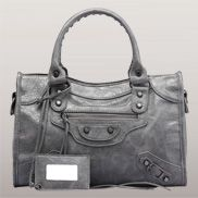 The Route 66 Faux Leather Medium Bag Grey