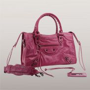 The Route 66 Faux Leather Medium Bag Peach