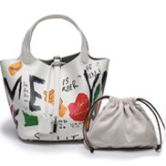 Theresa Leather Bag Graffiti White