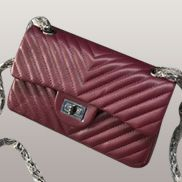 Adele V Shape Quilted Leather Flap Bag Burgundy