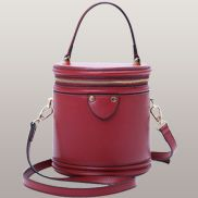 Kathryn Leather Shoulder Bag Red