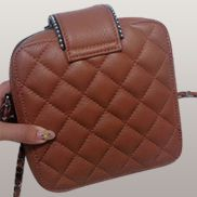 Andres Shoulder Leather Bag Brown