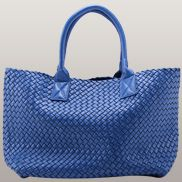 Grand Boulevard Woven Large Tote Electric Blue