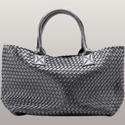 Grand Boulevard Woven Large Tote Grey