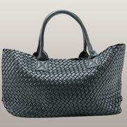 Grand Boulevard Woven Large Tote Blackish Green