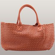 Grand Boulevard Woven Large Tote Orange