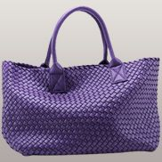 Grand Boulevard Woven Large Tote Purple