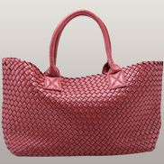 Grand Boulevard Woven Large Tote Red