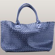 Grand Boulevard Woven Large Tote Shining Blue