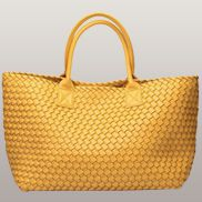 Grand Boulevard Woven Large Tote Yellow