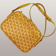 Germaine Faux Leather Shoulder Bag Yellow