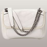 Irina Leather Shoulder Bag White