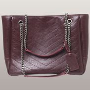 Irina Leather Tote Burgundy