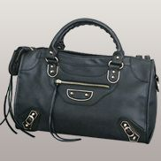 The Route 66 Faux Leather Large Bag Black
