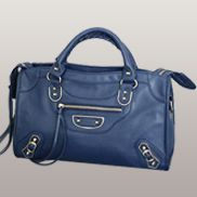 The Route 66 Faux Leather Large Bag Blue