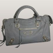 The Route 66 Faux Leather Large Bag Grey