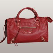 The Route 66 Faux Leather Large Bag Red