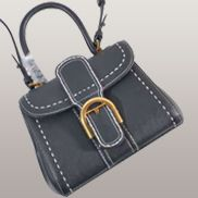 Suzanne Horseshoe Buckle Leather Small Bag Black