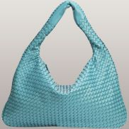 La Scalla Woven Hobo Light Blue