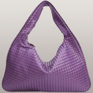 La Scalla Woven Hobo Purple